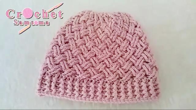 钩针编织温暖又舒适的帽子,给妈妈编织一顶吧
