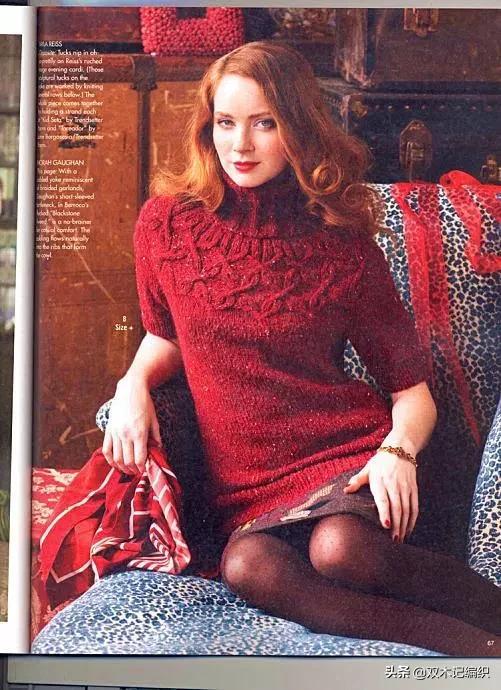 漂亮又暖和的女性长领套头毛衣编织,附详细文字教程与图解
