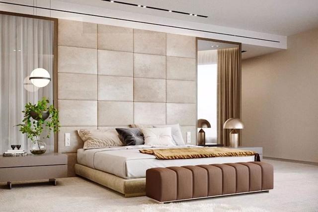 新房终于装修完工,新中式太漂亮了,床头背景墙估计你们没见过!