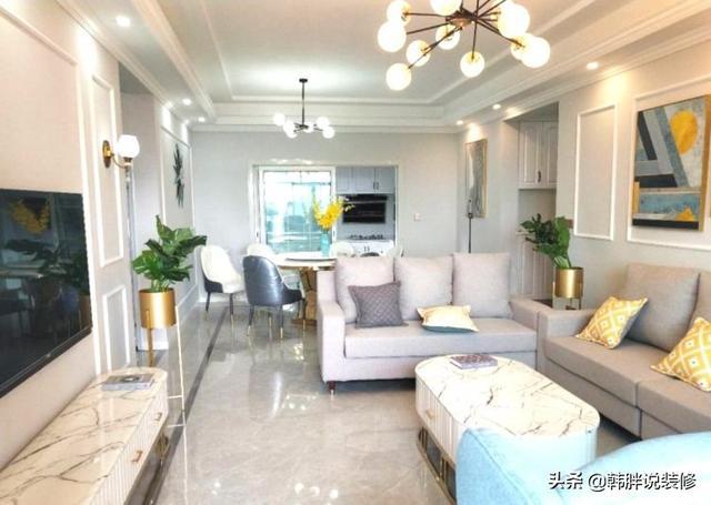 一家四口的120㎡新房,现代简约风格设计,全屋装修非常简洁漂亮