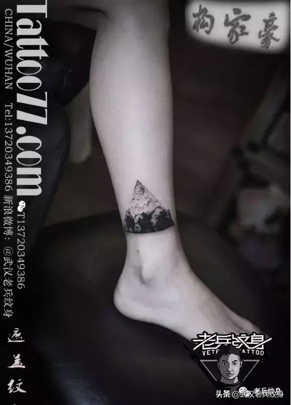 老兵店内纹身作品欣赏——小臂部位黑灰风格纹身