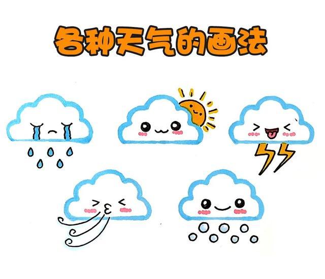 幼儿简笔画云朵的画法图片_幼儿云朵简笔画图片