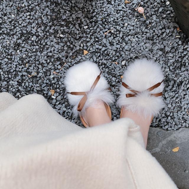 UGG女鞋拖鞋海滩系列毛绒夹脚拖鞋人字拖1099835 SWEET ... -京东