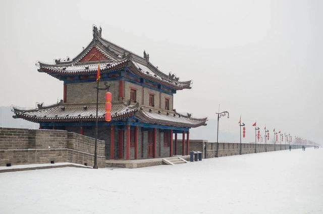 西安古城简笔画