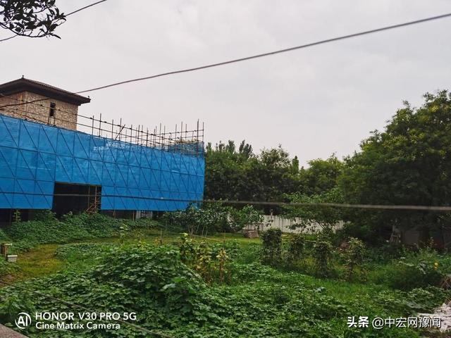 郑州一小区公共绿地被开发商圈占8年 城管:正在走处罚程序