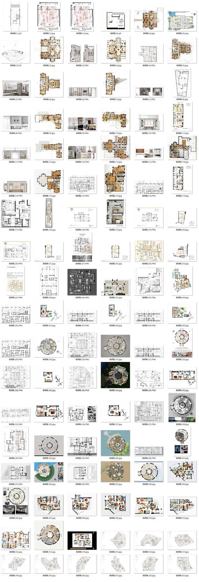 手绘建筑平面设计图-高清图片-百图汇设计素材