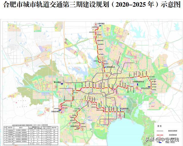 2020合肥地铁线路图