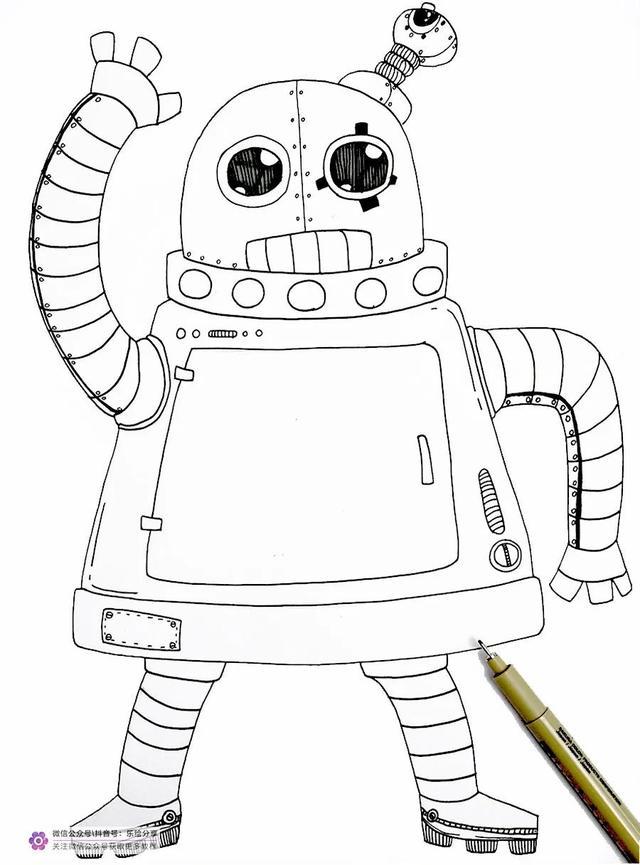 机器人简笔画大全