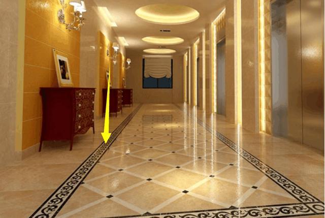 走廊波导线铺贴效果图