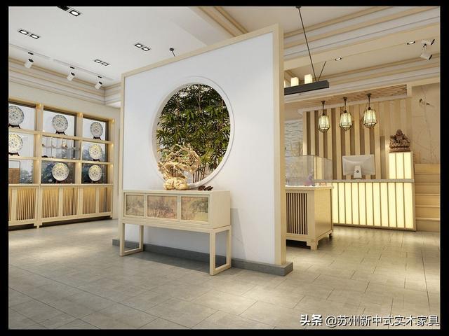现代新中式风格茶社,简约茶室搭配原木色家具原来这么好看!