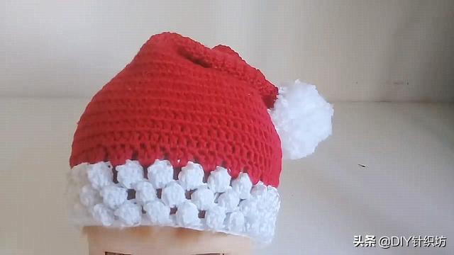 「毛线编织」圣诞帽的钩针方法