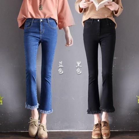 高腰修身牛仔裤,满满的青春活力