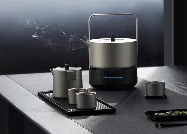 红瓷茶具图片