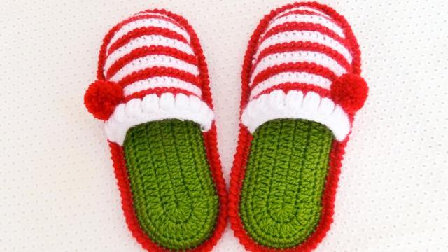 手工编织 居家拖鞋 穿上超级舒适,钩织教程很简单哦