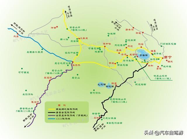 青海湖地图_青海湖电子地图_青海湖旅游地图_米胖