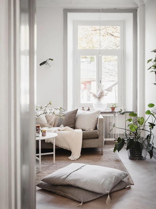 58㎡北欧风小宅,灰色装饰线美出天际
