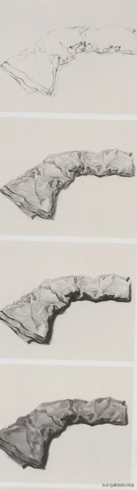 素描静物衬布的画法