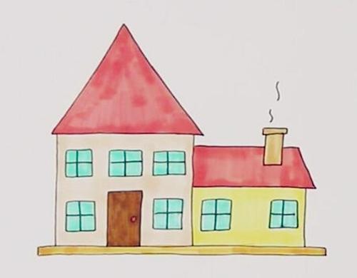 几十种房子简笔画作品大全,家长们收藏好,拿去练手最适合了