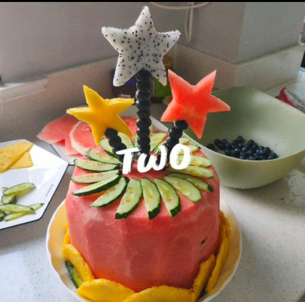 好看又好吃的水果蛋糕!再也不怕胖了,自己親手做的更加代表心意
