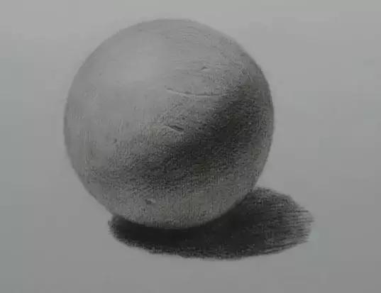 球体结构素描石膏几何体圆的画法 基础教程