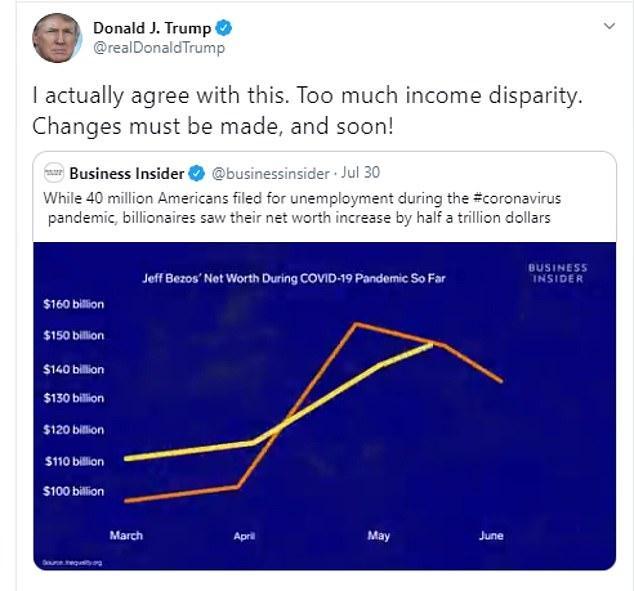 特朗普怒骂贝佐斯,称美国贫富差距大,网友笑了:你不也是富翁?