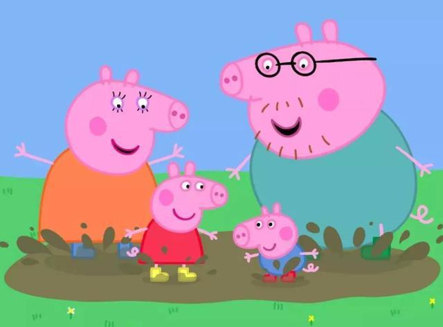 小猪佩奇猪爸爸简笔画
