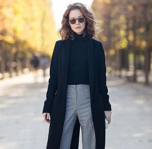 天冷了都要加件外套?那我的阔腿裤配什么外套最好 - 爱秀美