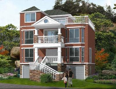 宽10-11米之间的两栋自建房,简约别墅,业主和施工队都喜欢