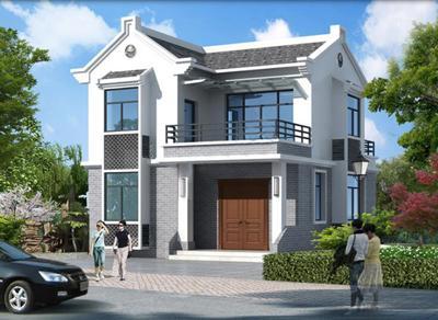 农村2层别墅房子图片