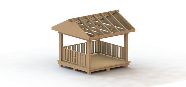 各种亭子建筑CAD施工图纸-景观及古建筑图纸-沐风网