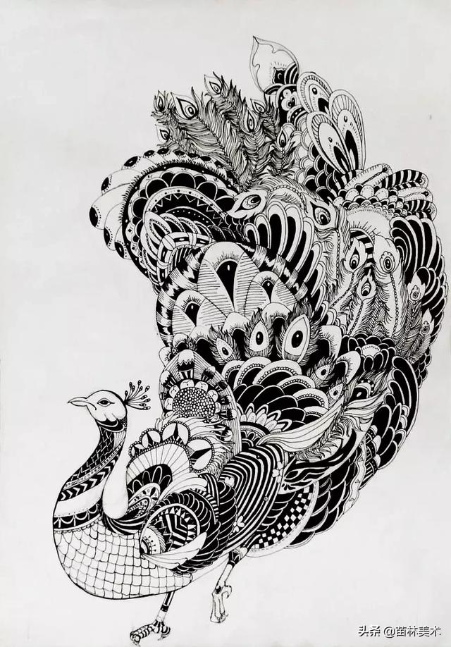 黑白装饰画优秀作品4k