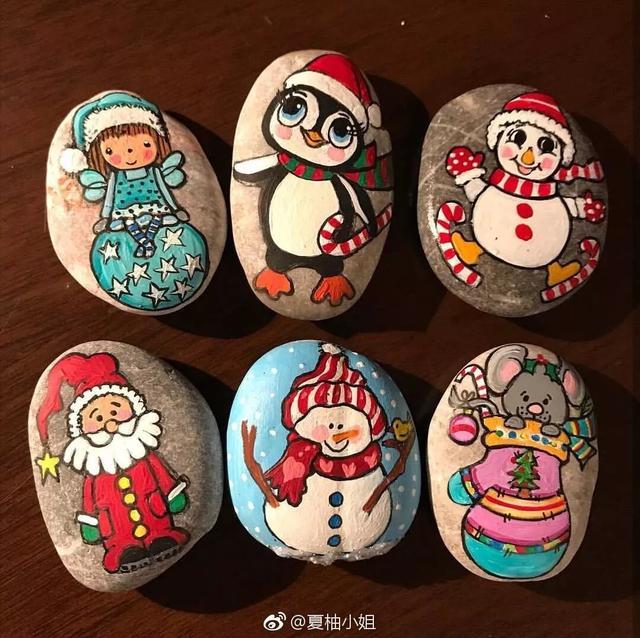 【手绘DIY】第一次在石头上画画 - 童梦夏天 - 简书