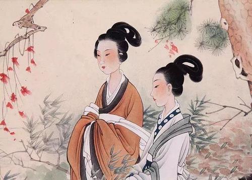 尧帝的两个女儿——鹅皇和女英