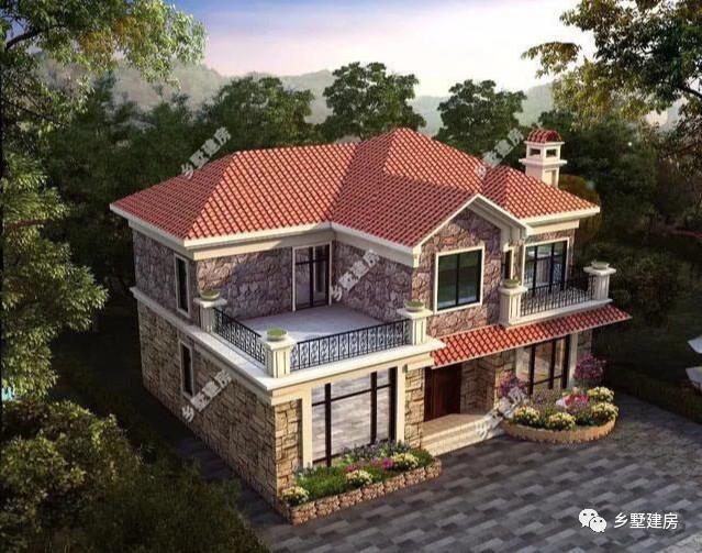 新式带露台两层小别墅,农村自建房最受欢迎的两款户型!