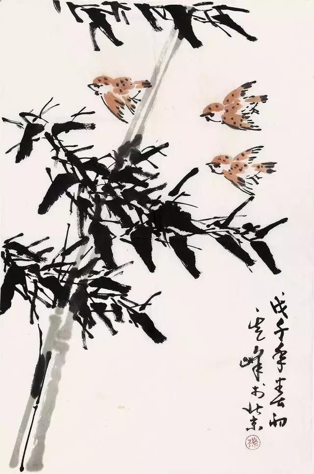 竹子的写意画法图文教程,分分钟成为国画大师_美篇