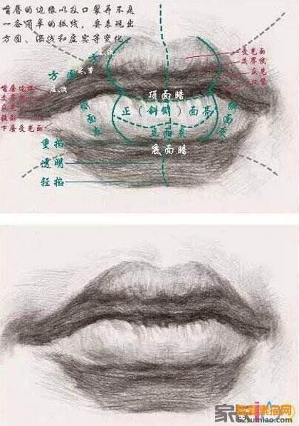 漂亮的嘴唇简笔画要怎么画_5068儿童网