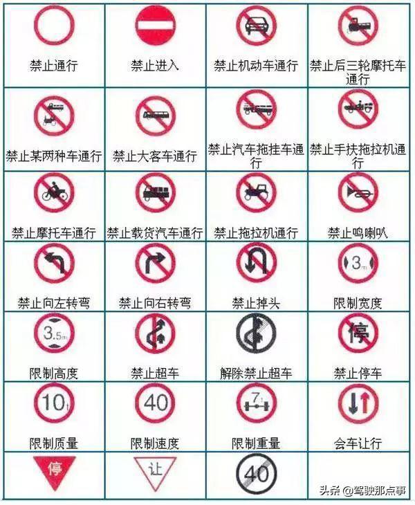 大班交通标志图片