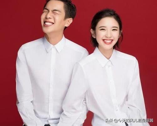 明星夫妻的结婚照,别人都是规矩的白衬衫,只有吴京独树一帜