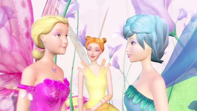 芭比:安丽娜回来,看到丹丽安和亚舒娜在等她,这次冒险好刺激