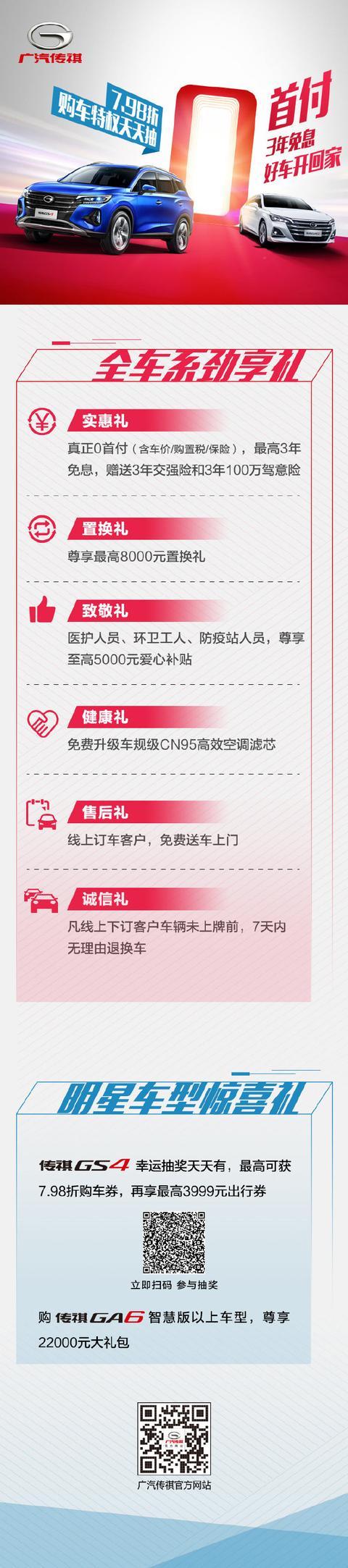 桂林·祺辰 | 广汽传祺超级0首付 金融购车月