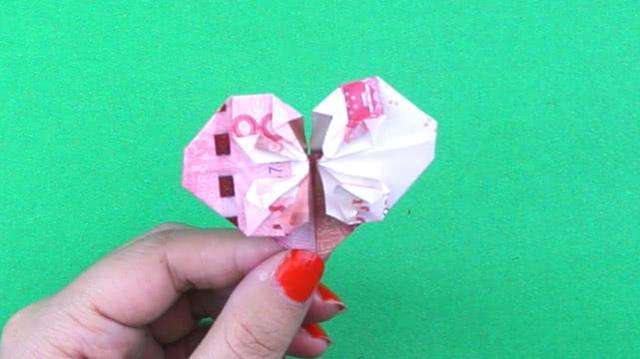 爱心折纸步骤图解
