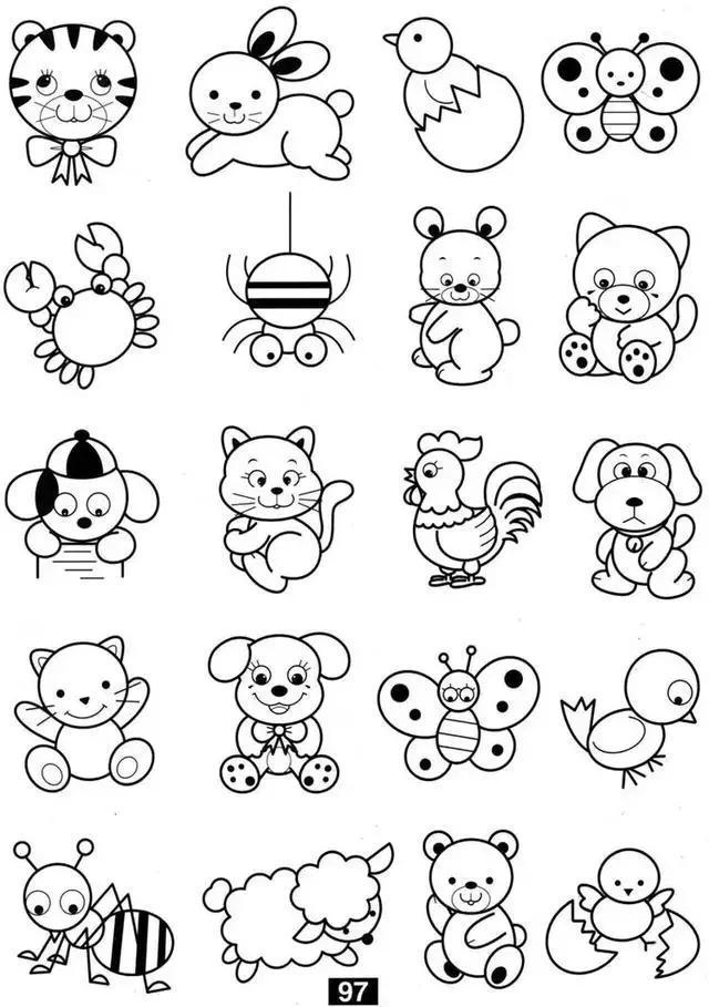 小动物简笔画教程