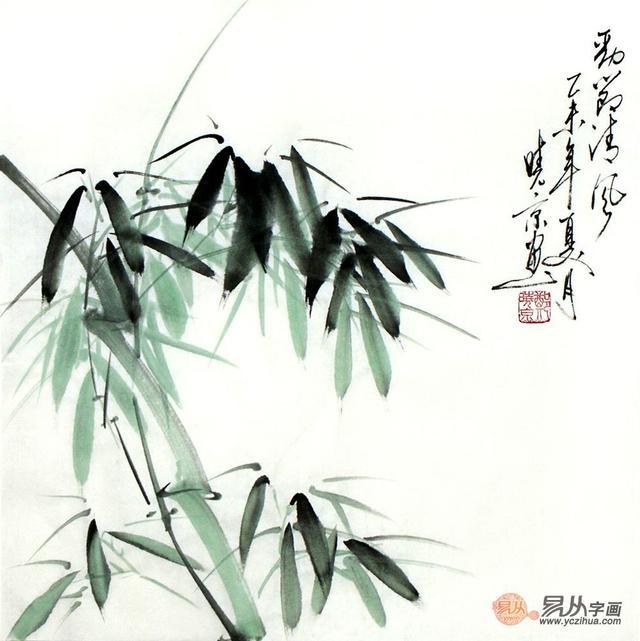 水墨写意竹子画,郑晓京国画竹子欣赏