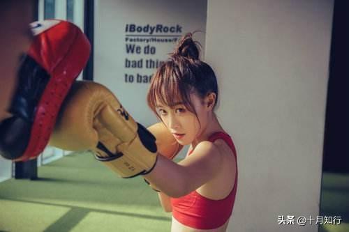 藍盈瑩健身保持身材,身材緊致馬甲線明顯,好身材總是與健身有關