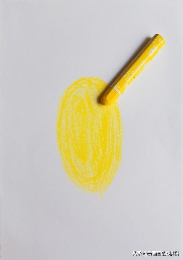 简单有步骤的儿童风景油画棒画,少儿美术蜡笔风景画