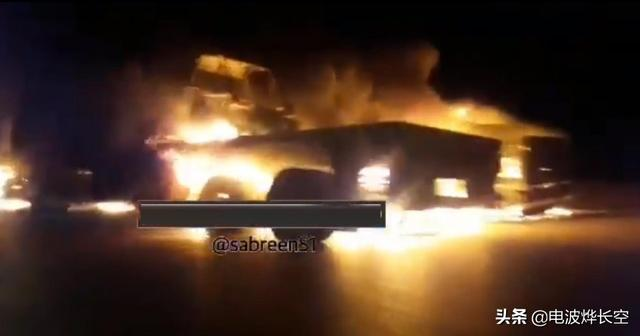 驻伊美军后勤车队被人烧了!先让司机下车,然后直接点火