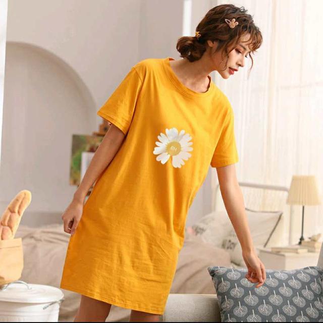 夏天女士睡衣薄款家居服纯棉吸汗透气手感柔软水洗不掉色不起球。
