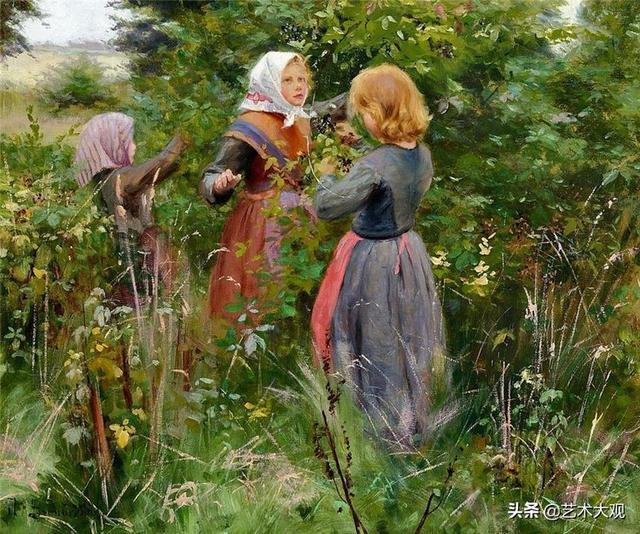 乡村生活 | 波兰画家汉斯.安德森油画作品欣赏