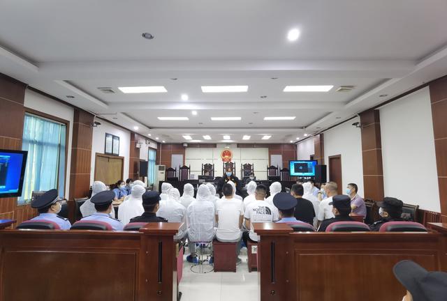 洋县法院公开开庭审理一起涉及16名被告人寻衅滋事案