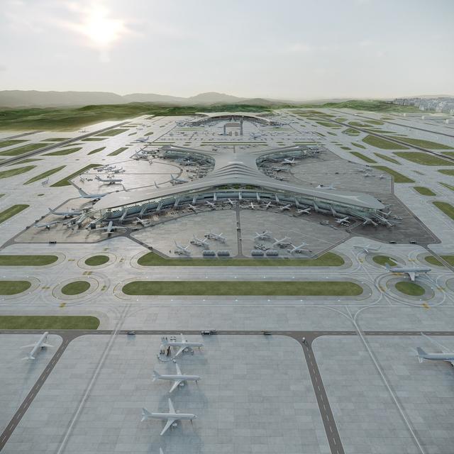 首都机场t3航站楼图片